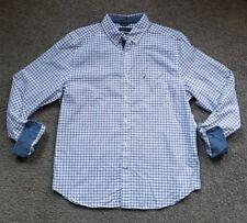 Nautica men Oxford Tattersal button front  Shirt L