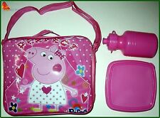 Brandnew school Lunch Bag Peppa Pig girls Lunchbox 3pc