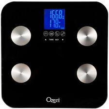 Ozeri Touch Digital 440 lb. Capacity Total Body Bathroom Scale Modern Black New