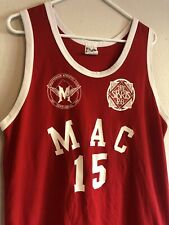 Vintage 1991 Multnomah Oregon Athletic Club Basketball Jersey Red Made In Usa Xl