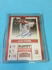 2017 Panini Contenders Baseball Alex Reyes RC Auto Red Playoff Ticket #38 89/99