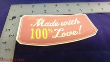 Made with 100% Love! - Printed Die Cut - scrapbook, cards, crafts