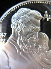 7/8 OZ 925 STERLING SILVER  ALEXANDER GRAHAM BELL TELEPHONE INVENTER COIN+GOLD