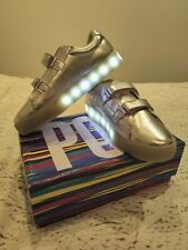 Pop Shoes light up silver trainers. Kid size 5, EU size 36
