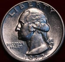 Uncirculated 1932-D Denver Mint Silver Washington Quarter