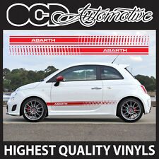 FIAT 500 ABARTH SIDE STRIPE GRAPHICS DECALS STICKER KIT SPORT S RACING