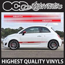 Fiat 500 Abarth calcomanías de lado Raya De Gráficos Pegatina Kit Sport S Racing