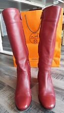 HERMES Burgundy Red Jumping Boots, Size 39