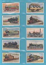 TRAINS - GODFREY PHILLIPS  -  RARE  SET  OF  25  RAILWAY  ENGINES   CARDS - 1924