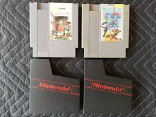 Nintendo (Nes) 2 Game Lot - Contra & Super C With Nintendo Sleeves - Authentic