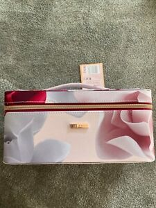 ted baker pink blush pink roses vanity case only new
