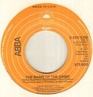"""ABBA The Name Of The Game 7"""" Usa Pressing, B/W I Wonder (Departure), S Epc 5750,"""