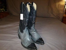 RARE Corral Vintage A1091 Mens Black/Gray Plato WT Cowboy Boots Great Style 8.0D