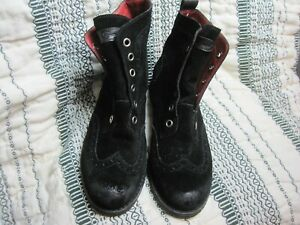 Lucky Brand Black Suede Leather Boots-Size 9-New without Box