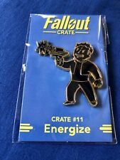 """FALLOUT 'Black Variant' """"Energize"""" PERK PIN Crate #11 LootCrate Gaming Exclusive"""