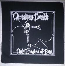 CHRISTIAN DEATH ROZZ Williams  deathrock gothic CURE punk WGT BatCave BACK PATCH