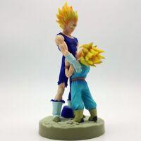 8''Dragon Ball Z Super Saiyan Vegeta and Trun Father With Son Goku Action Figure