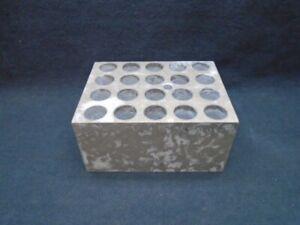 Thermolyne Aluminum 20-Place 13mm 4.5mL Dri-Bath Incubator Microtube Block B