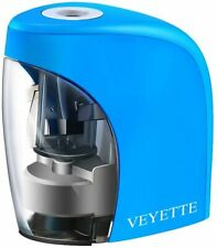 Electric Pencil Sharpener, VEYETTE Portable Pencil Sharpener Perfect for Kids, T
