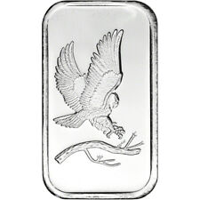 1 oz. SilverTowne Silver Bar - Bald Eagle Design - 999 Fine