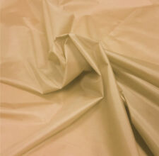 Beige Nylon Look Fabric 5oz Waterproof Material Tent Camp Seat Outdoor Cover