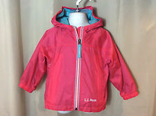 NWOT L.L. BEAN Pink Discovery Rain Jacket Coat Windbreaker Kids Girls 2 2T