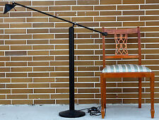 ÄLTERE DESIGNER STEHLAMPE HUSTADT LEUCHTEN BIS 160cm HOCH SCHWARZE LAMPE LEUCHTE