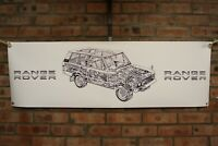 range rover   CLASSIC b w  pvc large WORK SHOP BANNER garage car show banner