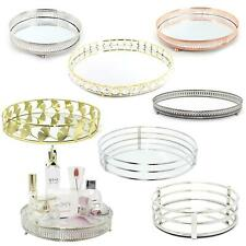 More details for decorative mirrored tray | tealight candle holder plate |vanity perfume tray