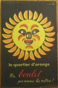 Rene Ravo/Artist-Signed, French 1930 Small Ad Poster/Blotter, Orange Sun, Boulet
