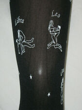 Black & White Smutty Printed Tights. Ladies NEW 10-14 OPAQUE rude horoscopes !