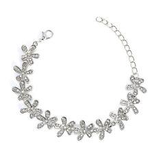 Women Elegant Crystal Snowflake Gold/Sliver Plated  Bangle Wrap Bracelet Jewelry