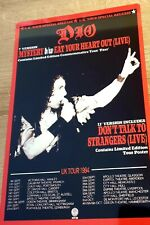 More details for dio -  last in line - uk tour - 1984 8x12  metal poster