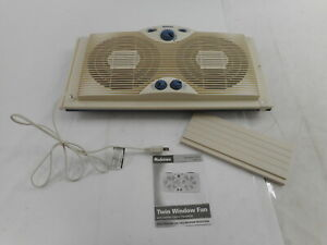 """Holmes HAWF2041 - Dual 8"""" Blade Twin Window Fan w/ Manual 3 Speeds, White"""