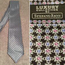 Luxury Collection STEFANO RICCI Multi-Color Pattern Silk Tie Long Necktie #032