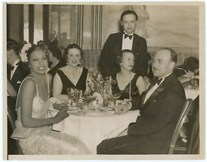 Josephine Baker At Chez Josephine Nightclub Original 1930s Press Photograph