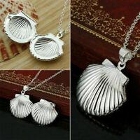 Halskette Medaillon Foto Sterling Silber Plated Amulett Geschenk Photo Bild