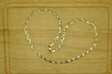 "17.75"" 18K YELLOW WHITE & ROSE GOLD BRAIDED CHAIN NECKLACE 5mm 10.5g"
