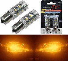 LED Light 50W 1156 Amber Orange Two Bulbs Rear Turn Signal Replace Upgrade Lamp