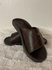 OLUKAI Men's Ohana Leather Slide - Dark Java - Size 7 - 10137-4848 - Qty 1 pair