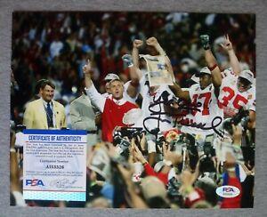 OHIO STATE BUCKEYES JIM TRESSEL SIGNED 8x10 NATIONAL CHAMPS 02 PHOTO PSA AI53326