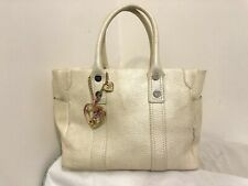 Authentic Samantha Thavasa Japan Beige Girly Womens Handbag Tote Bag