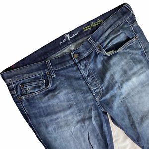 Seven For All Mankind Jeans Mens 36 Slouchy Button Fly Medium Wash Distressed