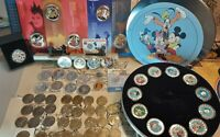 Disney Münzen Konvolut 65 Walt Disney Münzen, Medaillen, Disney Dollar Disneyana
