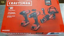 CRAFTSMAN V20 4-Tool 20-Volt Max Power Tool Combo Kit with Soft Case