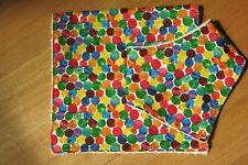 Bib and burp cloth- Hungry Caterpillar colorful dots