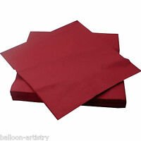 20 Burgundy 33cm Paper Napkins Serviettes Birthday Wedding Party Catering