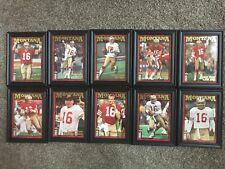 1995 Collector's Choice Joe Montana Chronicles Football Framed Set JM1-JM10 Mint