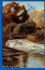 1906 POSTCARD THE WEIR RAY MEAD MAIDENHEAD BERKSHIRE NR TAPLOW SLOUGH COOKHAM