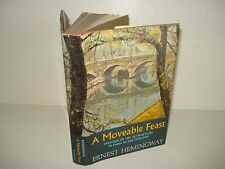 1964 A MOVEABLE FEAST Ernest Hemingway ORIGINAL DJ  First Edition 1st Printing